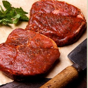 Welsh Minted Lamb Leg Steaks – Per kg